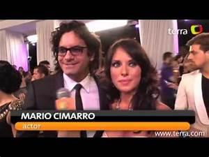 Mario Cimarro y Vanessa Villela Premios Tu Mundo - YouTube