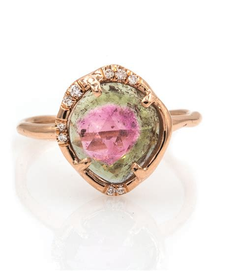 watermelon tourmaline ring audry rose