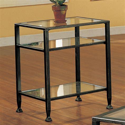 black metal end table amazon com southern enterprises bunching glass side end