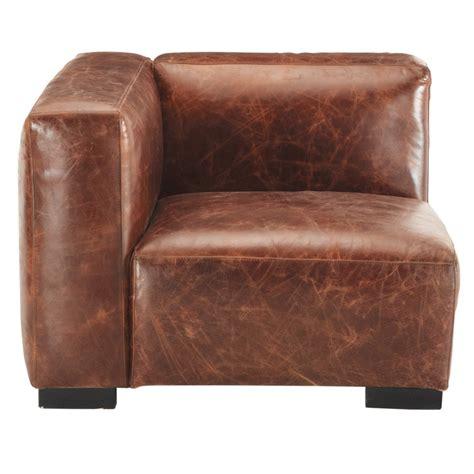 accoudoir de canapé accoudoir gauche de canapé en cuir marron maisons