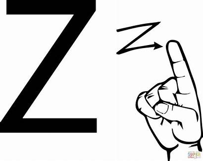 Language Asl Letter Sign Coloring American Clipart