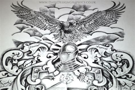 creating   coat  arms dark design graphics
