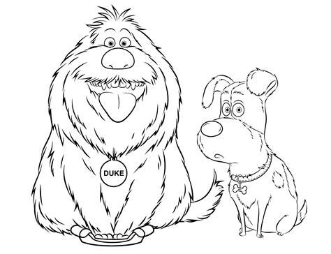 disegni da colorare pets 2 disegni di quot pets vita da animali quot da colorare