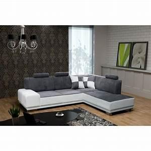 Canapé D Angle 5 Places : canap d 39 angle 5 places atlas avec t ti res ang achat vente canap sofa divan soldes ~ Teatrodelosmanantiales.com Idées de Décoration