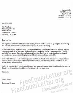 examples of good cover letters for internships - cover letter example internship cover letter in accounting
