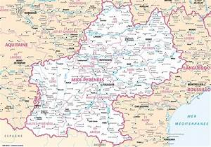 Carte Du Gers Détaillée : carte midi pyr n es voyages cartes ~ Maxctalentgroup.com Avis de Voitures