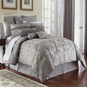 Samantha, Platinum, 4, Piece, Comforter, Set