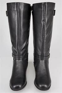 Shoe Width Codes Chart Black Xl Calf Riding Boots With Stretch Panels Buckle
