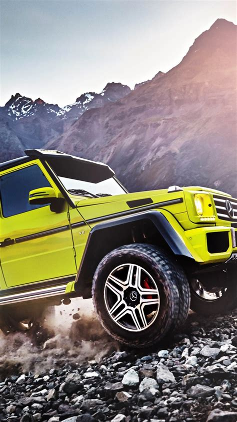 Full torque from a standing start, no local emissions and virtually silent in motion. Wallpaper Mercedes-Benz G 500, SUV, Mercedes, G-Class, off-road, yellow, luxury cars, Cars ...
