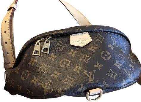 louis vuitton bumbag monogram brown  cream leather cross body bag tradesy