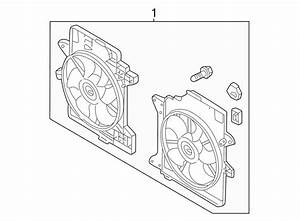 Ford Escape Engine Cooling Fan Assembly  Radiator