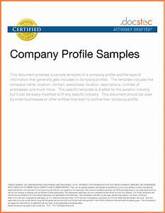 9 sample of company profile for small business company for Company profile template for small business