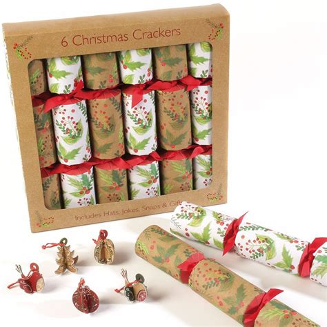 christmas crackers sales in uk festive foliage crackers 6 pack oxfam gb oxfam s shop