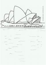 Sydney Opera Coloring Designlooter sketch template