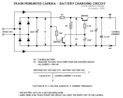Simple Train Mounted Camera Battery Charger Electronic