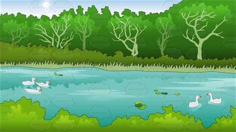 pond background pond in a park in summer background clipart by vector