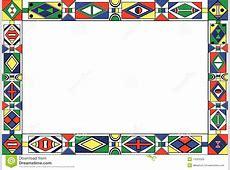 Africantribalart Pattern's Frame Stock Vector