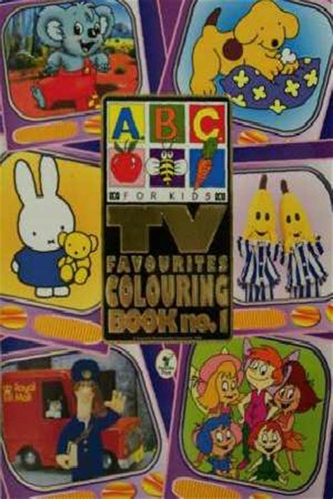 abc  kids tv favourites colouring book