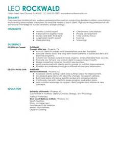 Nutritionist Resume Examples Salon Spa Fitness Resume