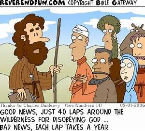 "ReverendFun com : Cartoon for May 1, 2006: ""Laps"""