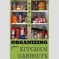 Organized Kitchen Cabinet Spices