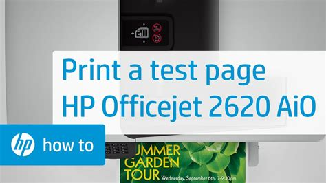 Iphone 4 mit installierter hp app aio remote erkennt meinen drucker hp officejet 6500 wireless nicht. Printing a Test Page from the HP Officejet 2620 All-in-One Printer - YouTube