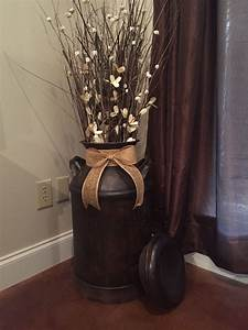 antique milk can turned into home decor milk can decor