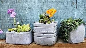 Fabriquer Grande Jardiniere Beton : faire des pots de fleurs en ciment les tutos ~ Melissatoandfro.com Idées de Décoration