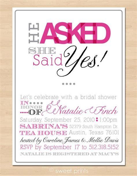 She Said Yes Bridal Shower Invites