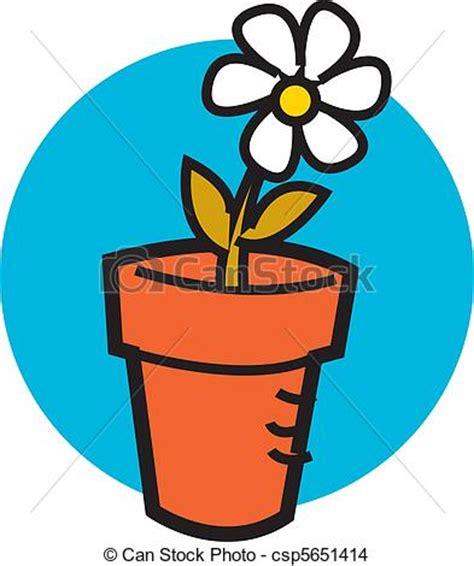 pot de fleur dessin vecteur eps de pot fleurs 224 une joli p 226 querette pot fleurs 224 une csp5651414