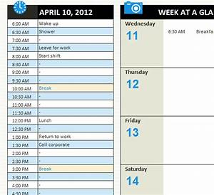 Daily Calendar Template Printable Personal Daily Schedule My Excel Templates