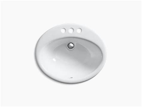kohler farmington bathroom sink farmington drop in sink with 4 inch centers k 2905 4