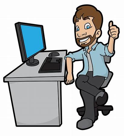 Computer Cartoon Svg His Clipart