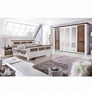 Schlafzimmer Einrichtung Trevora in Weiß Kiefer Pharao24 de