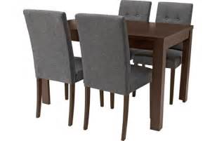adaline walnut stain extendable dining table and 4 chairs