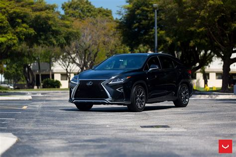 custom lexus custom wheels help this lexus rx transition to the dark