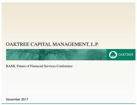 Oaktree Capital (OAK) Presents At Bank of America Merrill ...