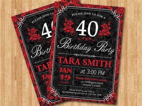 40th Birthday Invitations for Women DREVIO