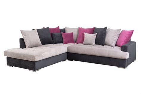 h et h canapé canape d 39 angle à gauche habana noir gris fushia