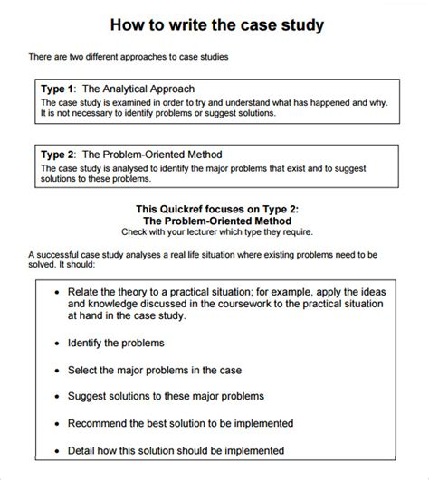 Template For Writing A Study 7 sle study templates to sle templates