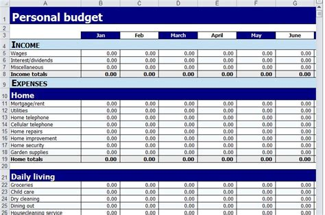 personal budget worksheet  personal budget worksheet
