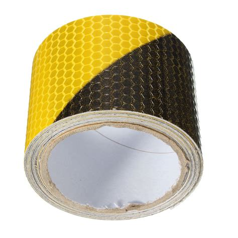arrival black yellow reflective safety warning