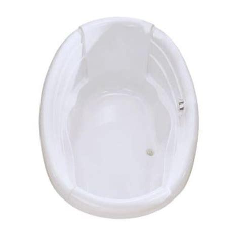 maax agora 6 ft center drain soaking tub in white 100486