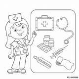 Coloring Aid Pages Thermometer Medical Band Kit Doctor Kool Outline Printable Drawing Sheets Cartoon Colouring Tools Sheet Webcomicms Getcolorings Colorings sketch template