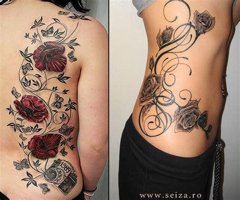 Deux Exemples De Tatouages Floraux  Photos De Tatouages