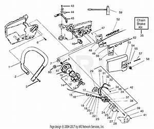 Poulan 3800 Gas Saw Parts Diagram For Clutch  U0026 Handle