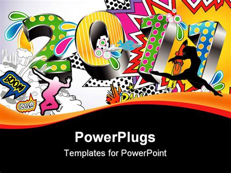 colorful comic book style powerpoint template