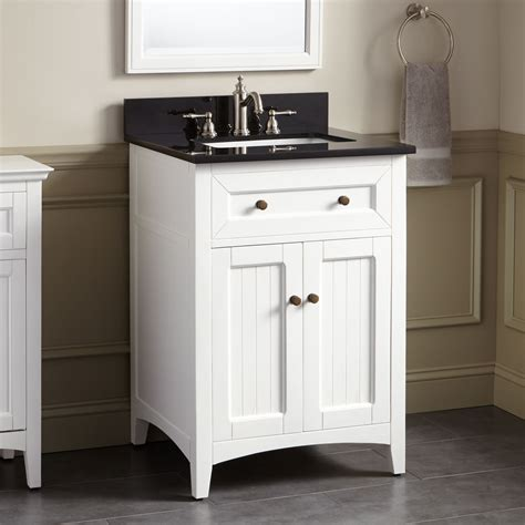 Bathroom Vanities - 24 quot halifax vanity for rectangular undermount sink white