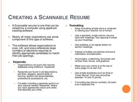 Electronic Resume Scanning Keywords by Learn How To Create A Great Resume