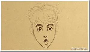 How to draw a surprised face in easy steps